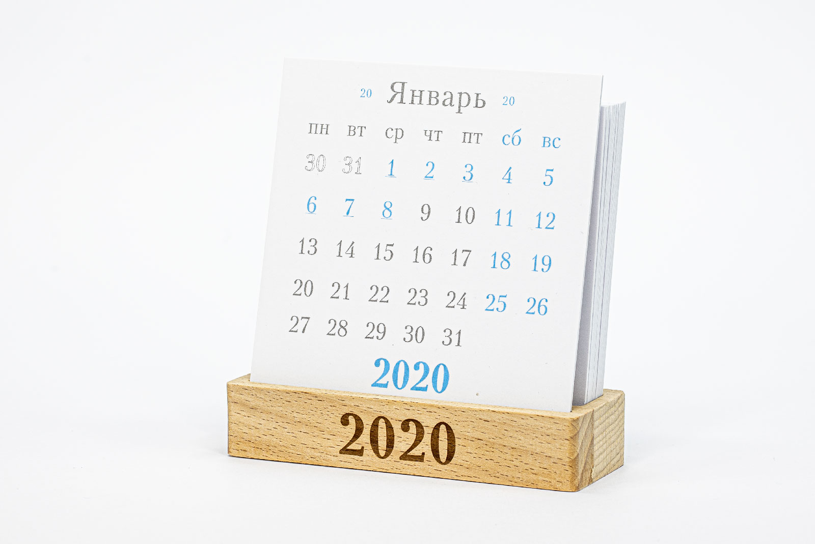 Календарь на 2020 год на подставке