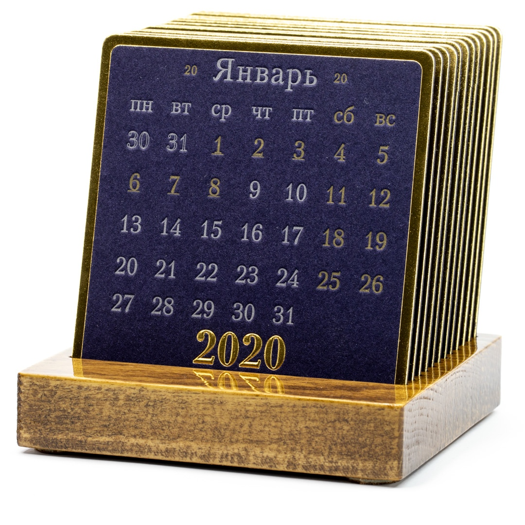 Календарь на деревянной подставке PRESIDENT