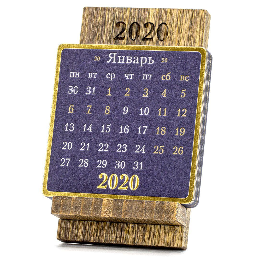Календарь на подставке из бамбука