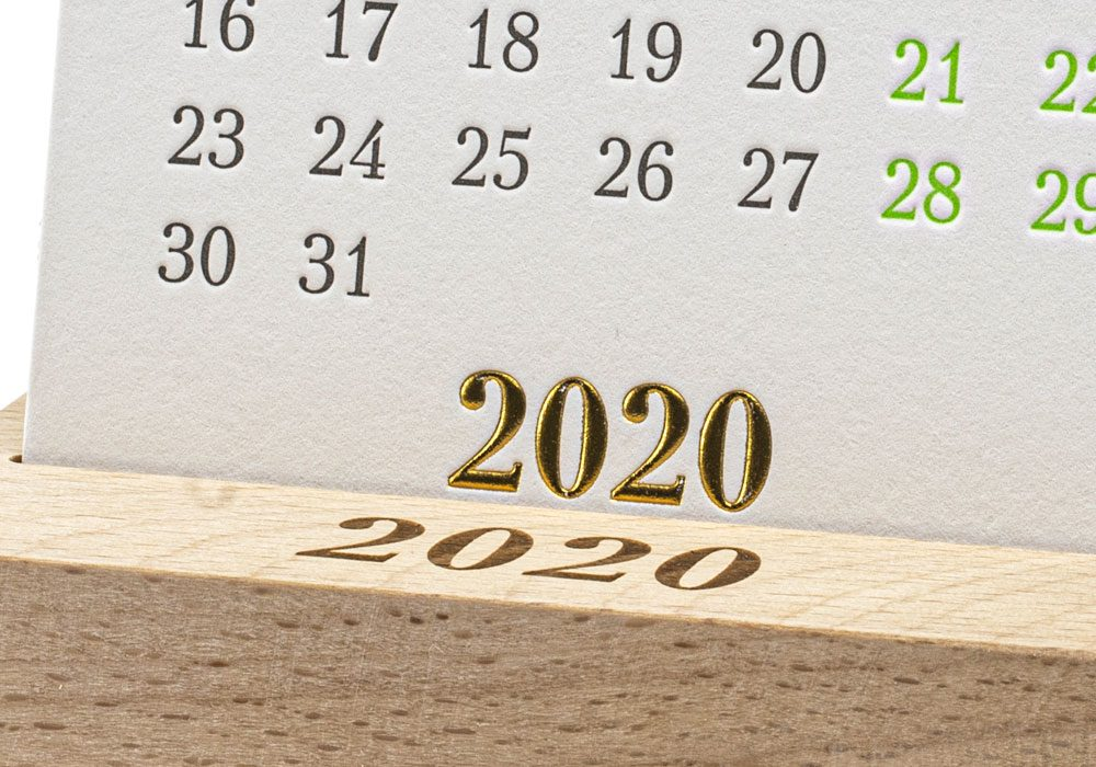 Календарь на подставке BIG 2020