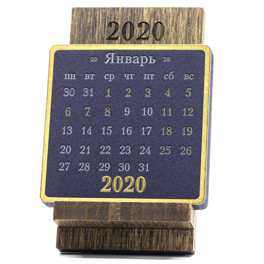 iStand Календарь на подставке из бамбука